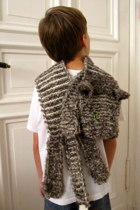 cat wrap scarf