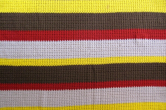 striped croched blanket