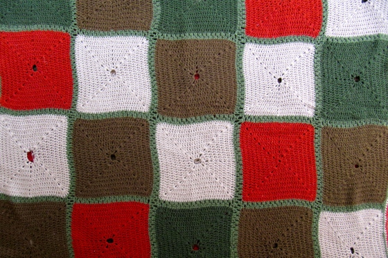 checkered crochet blanket