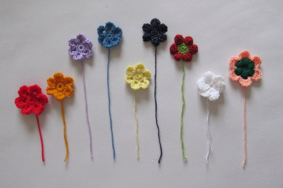 simple crochet flowers