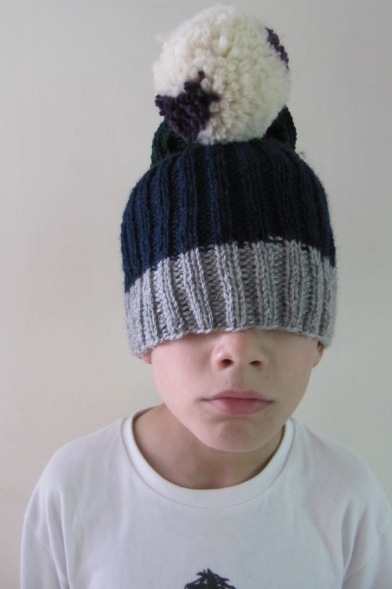 A bobble hat